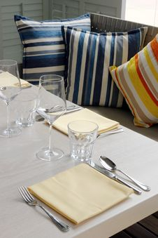Free Table Setting - Home Interiors. Stock Photos - 3829283