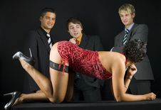 Business Stag Party Stock Photo
