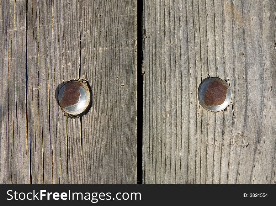 Nailed wood wall