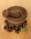 Free Pestle And Mortar With Ingredients Stock Photography - 3833882