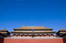 Free WU Men The Gate Of Middle Stock Photography - 3830072