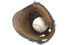 Free Baseball And Mitt Royalty Free Stock Image - 3830406