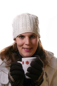 Free Hot Coffee On Cold Winter Day Royalty Free Stock Image - 3830436