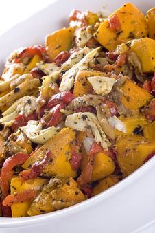 Roast Vegetable Salad Royalty Free Stock Image