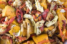 Roast Vegetable Salad Royalty Free Stock Photos