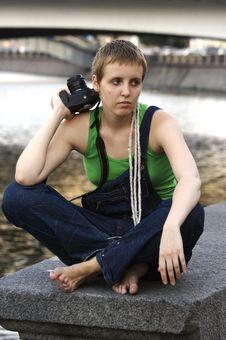 Free Sad Girl Photographer Stock Photos - 3830983
