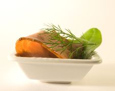 Meat With Dill Stock Photos