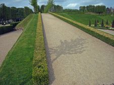 Garden Pathway At Castle In Denmark Stock Images