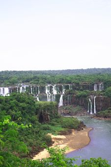 Free Iguassu (Iguazu; Iguaçu) Falls - Large Waterfalls Stock Photo - 3832260