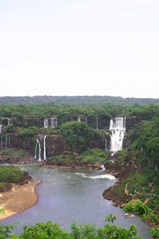 Free Iguassu (Iguazu; Iguaçu) Falls - Large Waterfalls Royalty Free Stock Photo - 3832285