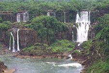 Free Iguassu (Iguazu; Iguaçu) Falls - Large Waterfalls Royalty Free Stock Image - 3832436