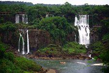Free Iguassu (Iguazu; Iguaçu) Falls - Large Waterfalls Stock Image - 3832731