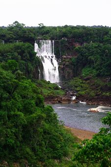 Free Iguassu (Iguazu; Iguaçu) Falls - Large Waterfalls Royalty Free Stock Images - 3832989