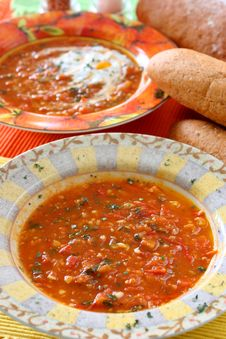 Free Tomato Soup Royalty Free Stock Photography - 3833377