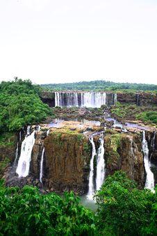 Free Iguassu (Iguazu; Igua�u) Falls - Large Waterfalls Royalty Free Stock Image - 3833466