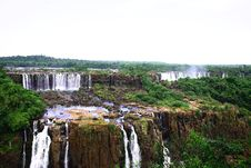 Free Iguassu (Iguazu; Igua�u) Falls - Large Waterfalls Stock Images - 3833564