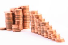 Free Stairs To Wealth, Made Of Columns Of Coins Stock Photos - 3833663