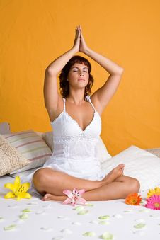 Free Beautiful Young Woman Relaxing In Yoga Position Stock Images - 3833824