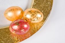 Free Easter Eggs On The Table Stock Photography - 3834032