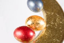 Free Easter Eggs On The Table Royalty Free Stock Photography - 3834037