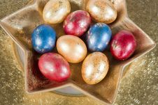 Free Easter Eggs On The Table Royalty Free Stock Photos - 3834048