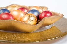 Free Easter Eggs On The Table Stock Images - 3834054
