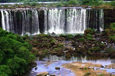 Iguassu (Iguazu; Iguaçu) Falls - Large Waterfalls Stock Images