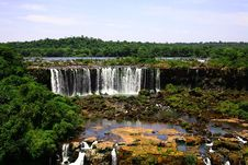 Free Iguassu (Iguazu; Iguaçu) Falls - Large Waterfalls Royalty Free Stock Photo - 3834955