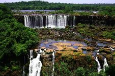 Free Iguassu (Iguazu; Iguaçu) Falls - Large Waterfalls Stock Photography - 3835022