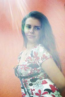 Free Happy Teenage Girl In Sunlight Royalty Free Stock Photo - 3835635