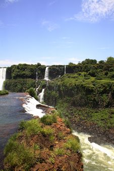 Free Iguassu (Iguazu; Iguaçu) Falls - Large Waterfalls Royalty Free Stock Photo - 3835715