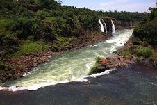 Free Iguassu (Iguazu; Igua�u) Falls - Large Waterfalls Royalty Free Stock Image - 3836096