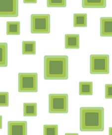 Free Green Retro Rounded Squares Royalty Free Stock Image - 3836236