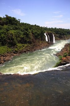 Free Iguassu (Iguazu; Igua�u) Falls - Large Waterfalls Royalty Free Stock Photo - 3836245