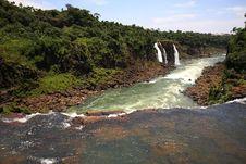 Free Iguassu (Iguazu; Igua�u) Falls - Large Waterfalls Stock Image - 3836301
