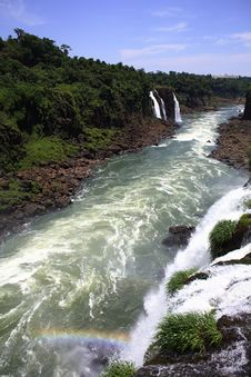 Free Iguassu (Iguazu; Igua�u) Falls - Large Waterfalls Royalty Free Stock Photos - 3836458