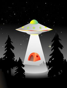 Free Alien Abduction Royalty Free Stock Photos - 3836908