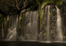 Free Waterfall Feature At Night Stock Image - 3837021