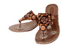 Elegant Ladies Footwear Stock Photography