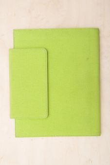 Free Bright Lime Green Note Book Royalty Free Stock Photography - 3837357