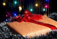 Free Christmas Present Box Royalty Free Stock Photos - 3837588