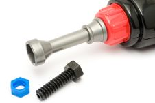 Free Nuts, Bolts And Electric Fastener Stock Photo - 3837610