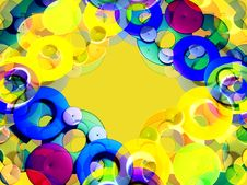 Free Colorful Frame On Yellow Royalty Free Stock Photography - 3837707