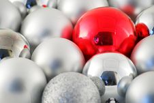 Free Random Silver Red Christmas Balls Stock Photo - 3837870
