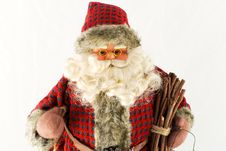 Santa Claus Doll With Wood Royalty Free Stock Photography