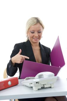 Free Bussines Woman  Working Stock Photo - 3838120