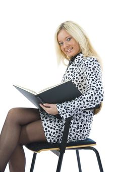 Free Business Woman With Folder Stock Photography - 3838142