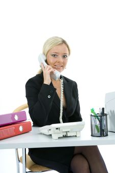 Free Bussines Woman  Working Royalty Free Stock Photography - 3838147