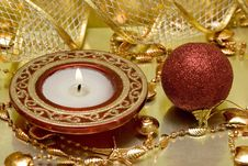 Free Festive New-year Candle Royalty Free Stock Photos - 3838568