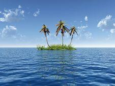 Free Palm Island Stock Photo - 3839190